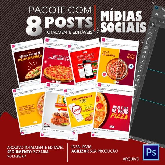 Post Para Redes Sociais Editável - Pizzaria - Vol. 01