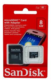 Cartão Memória 8gb Sandisk Kit 15 Unidades Original Lacrado