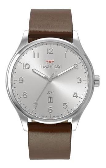 Relógio Technos Masculino Pulseira De Couro 2115mva/0k