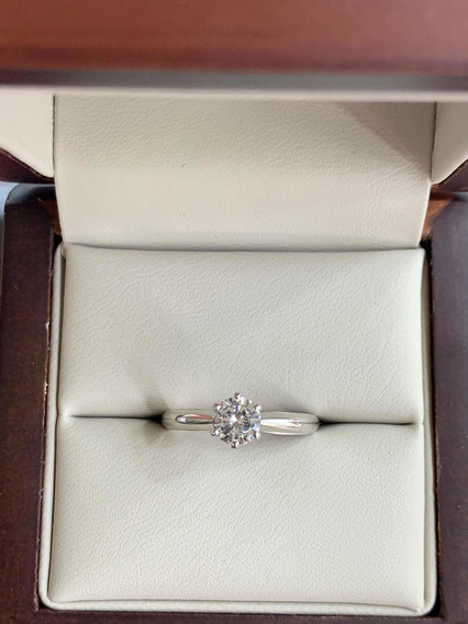 Anillo De Compromiso Diamante Certificado Gia .47 G Vs2
