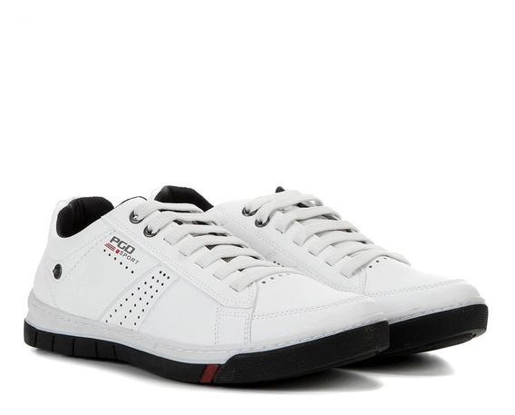 Sapatênis Pegada 170607 Masculino Branco E Preto