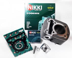 Kit Motor Cilindro Pistão E Anéis Yamaha Fazer Crosser 150