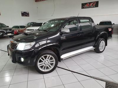 Toyota Hilux Dupla Srv Top 2013 Preta 3.0 4x4 Aut Rd20 Ctr