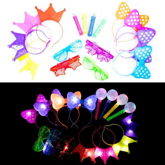 48 Articulos Luminosos Diademas Lentes Microfonos Minnie N42