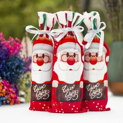 Imagen 1 de 4 de Cubierta Para Botella De Vino Bolsa Decorativa Navidad Regal