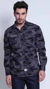 Camisa Camuflada Com Bolsos Wrangler
