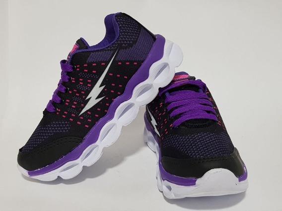 Tenis Feminino Infanitl Preto/purpura