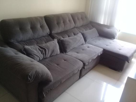 Sofá Retrátil Capriccio 3 Lugares + Chaise (semi Novo)