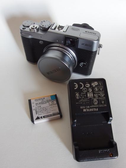 Fujifilm X20 Com 2 Baterias Cartão Sd Sandisk 32 Gb Em Ótimo Estado Fuji X20