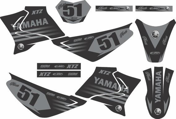 Kit Trilha Adesivo Xtz Moto Cross Yamaha Kr09 0,20