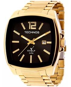Relógio Technos Masculino Dourado Quadrado Golf 2115koi/4p