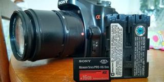 Bateria Original + Sony Memory Stick De 16 Gb Ms Pro-hg Duo