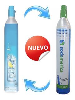 Sodastream Recarga Cambio Cilindro Sodamerica 60 Litros Soda