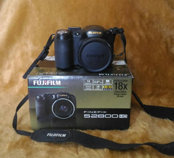 Camera Fujifilm Finepix S2800hd + Cabo + 4 Pilhas + Sd 16gbs