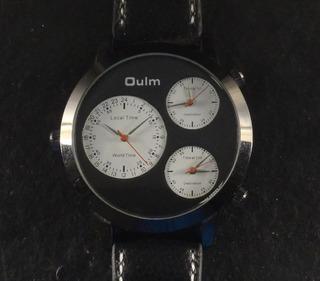 Enrome Reloj Cuarzo De Tres Máquinas Cuarzo 52mm. Nuevo Oulm