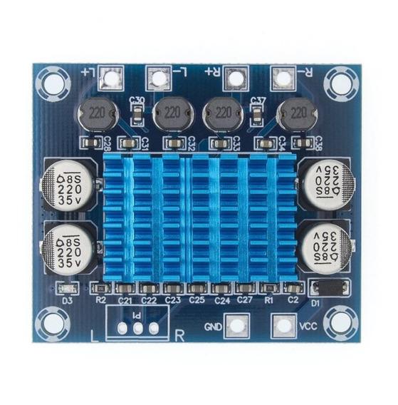 Placa Amplificadora De Áudio 2x 30w Tpa3110 Xh-a232
