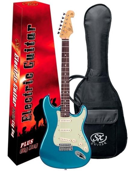 Guitarra Stratocaster Sx Sst62 Vintage Lake Pacific Blue