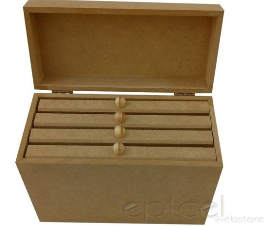 Caixa Porta Albuns Em Mdf Cru Para 160 Fotos 0201