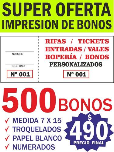 Impresion De Bonos Colaboracion - Imprenta - El Mejor Precio