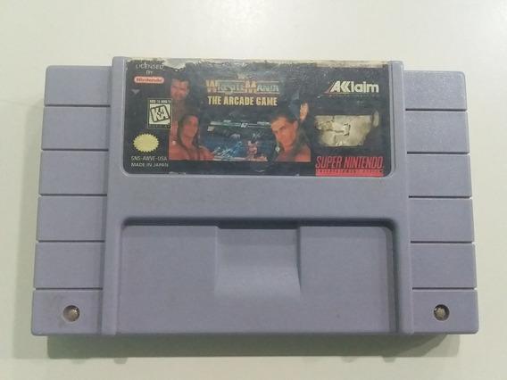 Jogo Snes Wwf Wrestlemania The Arcade Game Frete Grátis