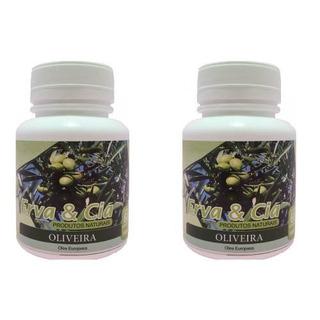 Chá Oliveira Ação Anti-inflamatória Pura Em Capsula 2 Potes