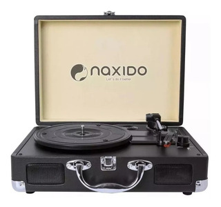 Toca Discos Vintage Naxido Nx-016 Negro