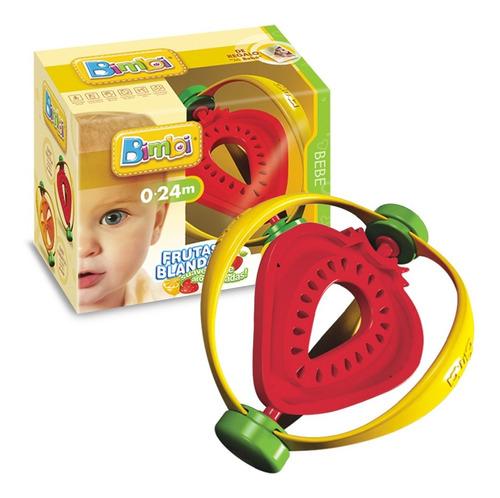 Imagen 1 de 6 de Bimbi Frutas Sonajero Mordillo Forma De Frutilla. E. Full