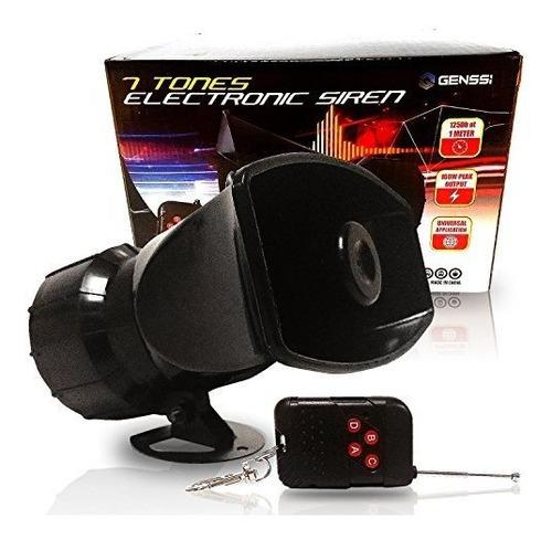 Genssi Wireless 7 Tone Electronic Siren Emergency Horn Siste