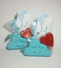 50 Kits Lembrancinha Chuva De Amor Sabonete Nuvem + Coração