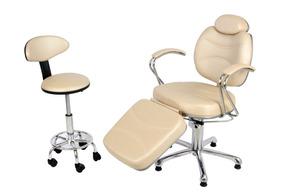 Cadeira Poltrona Reclinável Hidráulica Maquiagem Mocho Sela