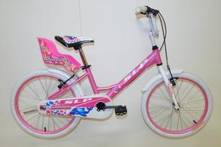 Bicicleta Slp Nena Dolphin Rod 20 Paseo Canasto Princesas