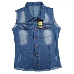 Colete Jeans Feminino P M G Roupas Femininas Moda 2109