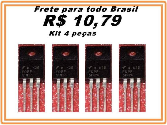 Transistor Fdpf51n25 - 51n25 - Kit 4 Peças Promoção