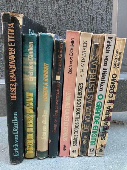 Livros Erich Von Daniken - Coleção 9 Livros Antigos E Raros
