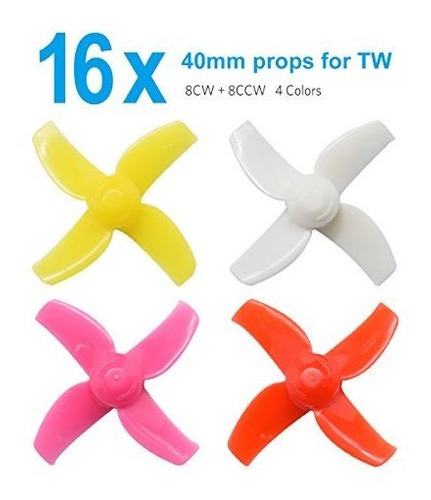 Betafpv Fpv Props 4 Sets 40mm 4blade Micro Whoop Helices Con