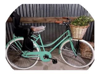 Bicicleta Vintage De Dama Con Sillita Super Grande!!!
