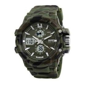 Relógio Skmei Anadigi 0990 - Verde Militar