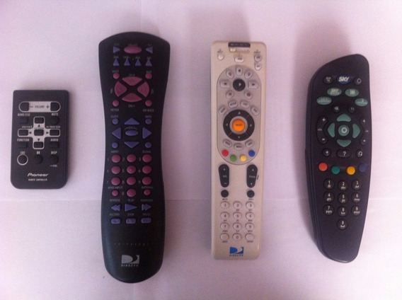 Kit 4 Controles Remoto / Pioneer / Sky / Directv