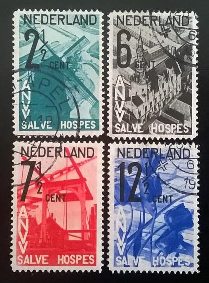 Holanda, Serie Yv. 241-44 Turismo 1932 Usada L11051
