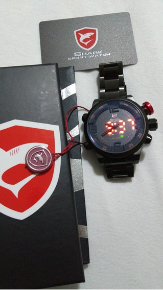 Relógio Luxo Shark Led Digital Prova D