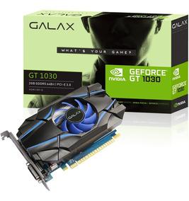 Placa De Vídeo Geforce Gt 1030 Galax Blue Gddr5 64 Bits 2 Gb