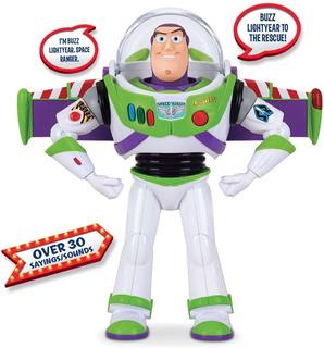 Toy Story Buzz Lightyear Figura De Acción De Lujo +30 Frases