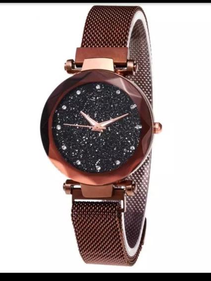 Relógio Feminino De Pulso Fino, Magros Céu Estrelado