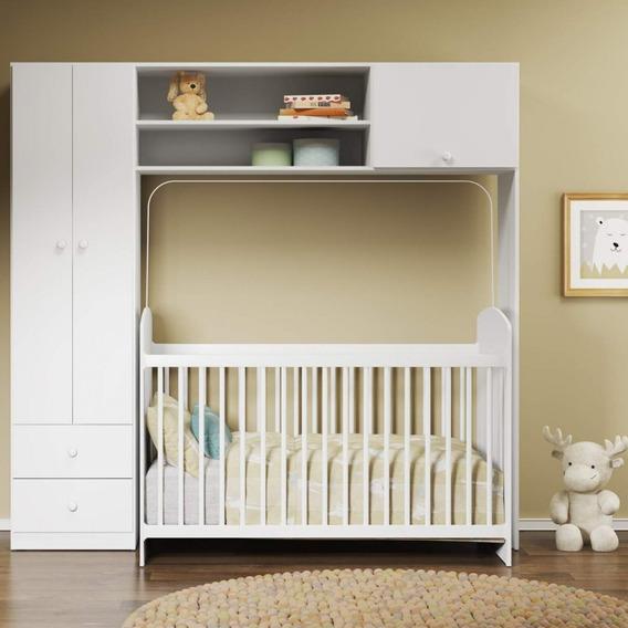 Quarto De Bebê Com Guarda-roupa E Berço Ciranda D