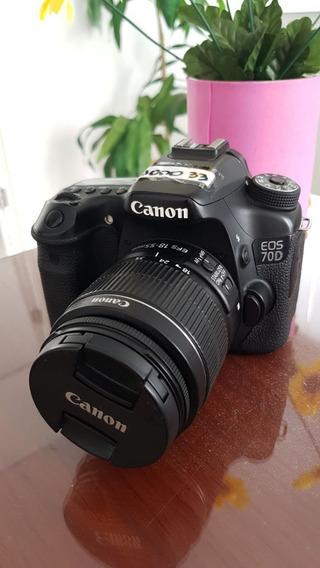 Camera Canon Eos 70d+ Lente 18-55mm
