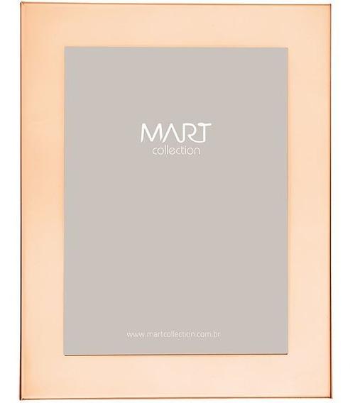 Porta Retrato Rose Gold Em Metal 20x25 Cm 8110 Mart