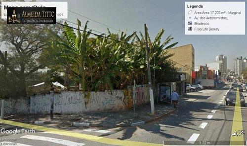 Excelente Terreno Comercial E Residencial  Centro De Osasco - Sp - Te0043