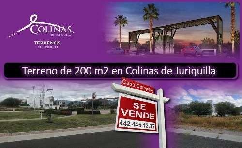 Se Vende Terreno En Colinas De Juriquilla, 200 M2, Ganalo !!