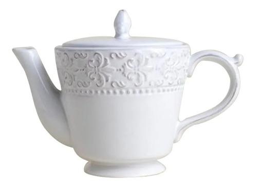 Tetera Ceramica Diseño Flor De Lis Té Oferta Ult Unidades
