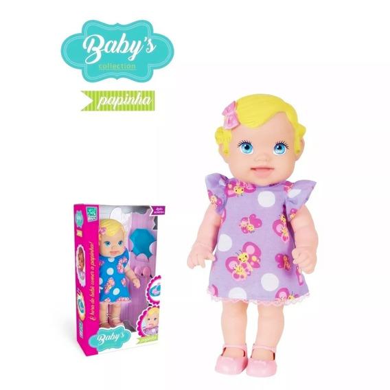 Boneca Babys Collection Papinha My Little Loira - Supertoys